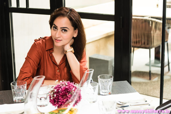 Shifa Merchant at Shamiana Restaurant, Taj Mahal Hotel, Colaba