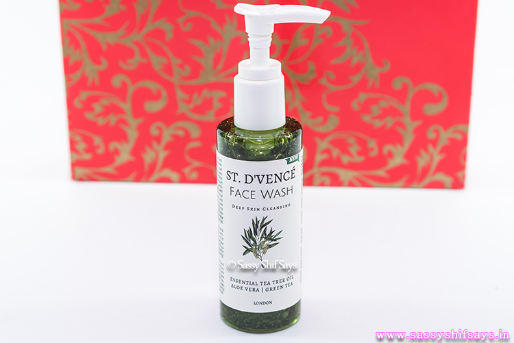 st-dvence-face-wash-Tea-tree-oil, Aloe-Vera-green-tea