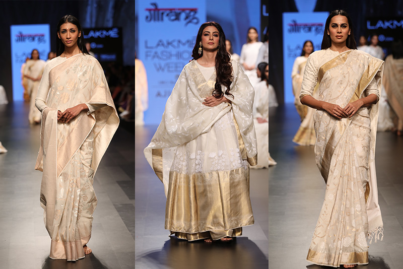 "Lakme Fashion Week 2017 Day 5 Gaurang Shah presented the ""Muslin Collection"""